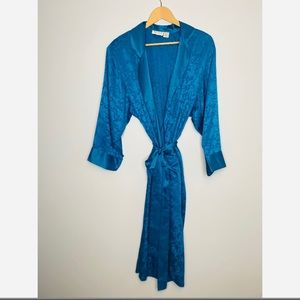 Victoria's Secret Gold Label Vintage Blue Robe
